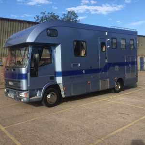 USED £19.950 ASCOT SUPREME 7.5 ton, Iveco /75 , New Mot, Stalled for 3, Padded Partitions, External Tack Locker