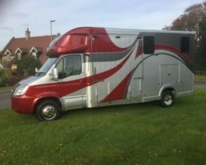 ASCOT 2, Iveco Daily 6.5 ton , Twin Wheel, 2010 reg, 75,000 miles, Large Horse area and Weekender Body ,Separate Spacious Living  £26,950, Sleeps 3  New Build 6.5 ton , LWB Separate  living ,  Sleeps 3, Sat Nav , Electric Pack  Leather Upholstery