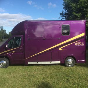 Ascot 2, 3.5 tonne, Citroen Relay new shape, 13Reg, 63,000 miles with Electric Pack, £26,950, Sat Nav, Air Con, Chrome Stallion Partition long stalls for 2, with separate Day Living, New MOT  Leather Upholstery