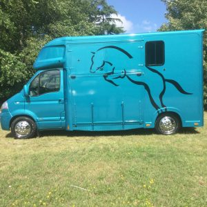 ASCOT 2 AUTOMATIC, Vauxhall Movano 58 Reg,  Big Engine 2.5 ltr, Air Suspension, £24,950, LWB,   Separate  living , Tack Area  Sleeps 2, Sat Nav, Leather Upholstery ,Big Payload