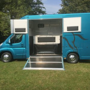 Ascot 2, 3.5 tonne, Citroen Relay new shape, 11Reg, 70,000 miles with Electric Pack, £24,950, Sat Nav , Air Con, Chrome Stallion Partition long stalls for 2 ,with separate Day Living, New MOT  Leather Upholstery