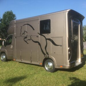 ASCOT2 , 3.5 Ton , Peugeot Boxer 18 Reg,£ 32,950. Electric Pack, Sat Nav and Air con, Bluetooth, Long stalled adjustable padded partition, Weekender Body, Sleeps 2  Cabin seating for 3 with leather upholstery.